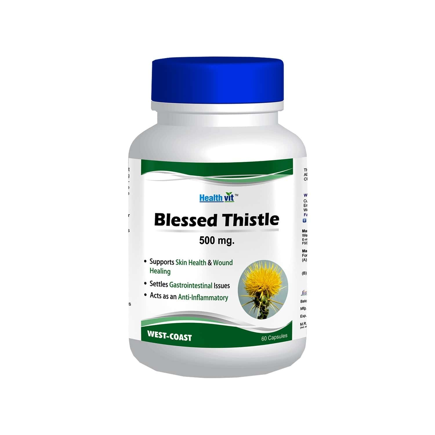Healthvit Blessed Thistle 500 Mg -60 Capsules