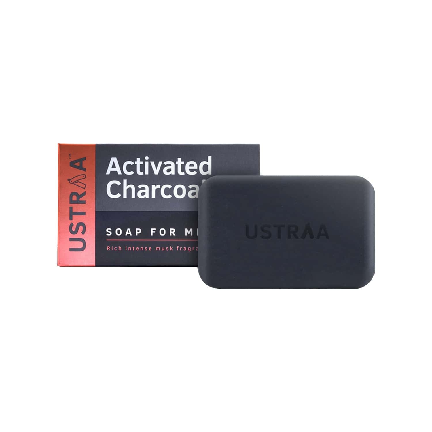 Ustraa Soap - Activated Charcoal - 100 Gm (pack Of 8)
