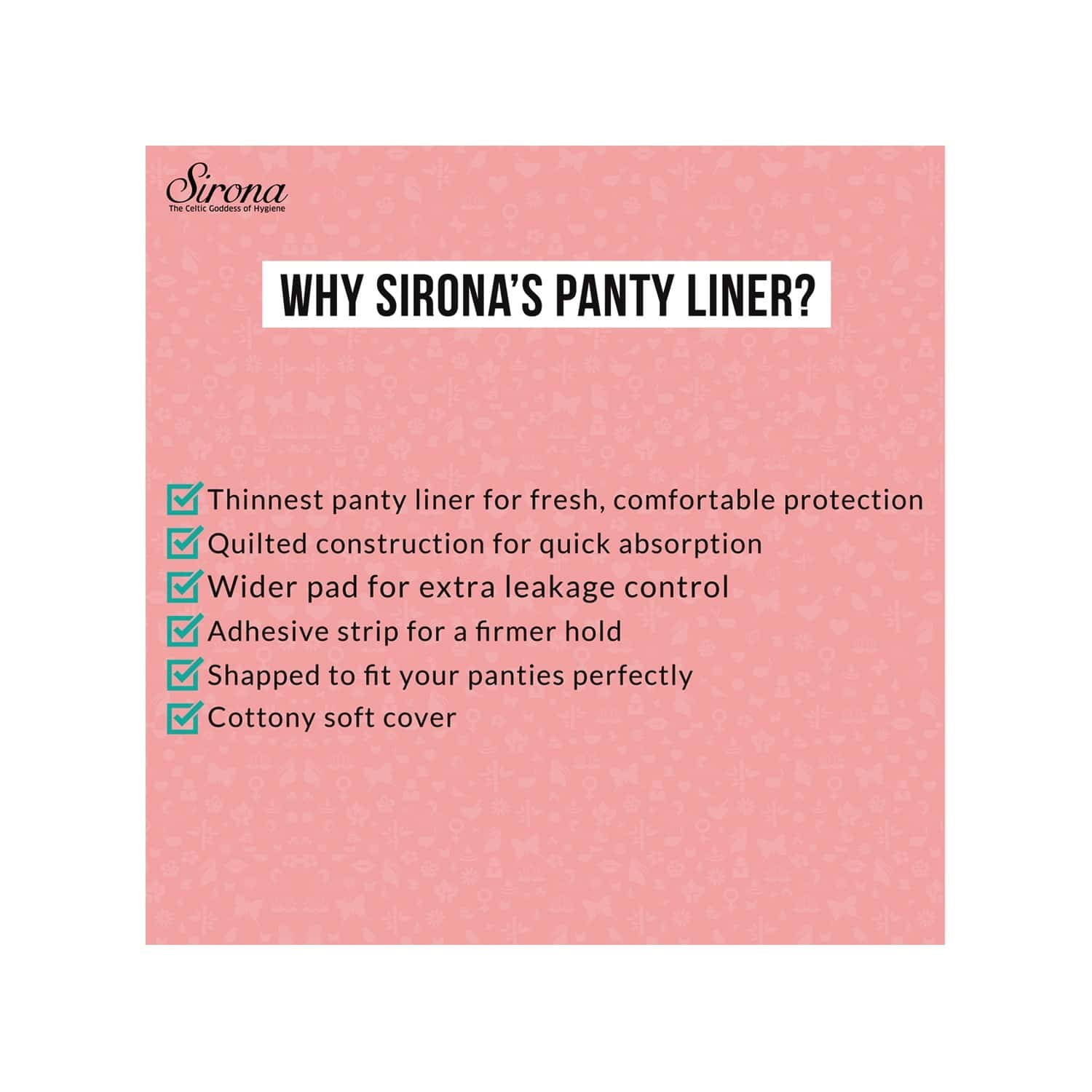Sirona Premium Panty Liners 30 Counts - Large