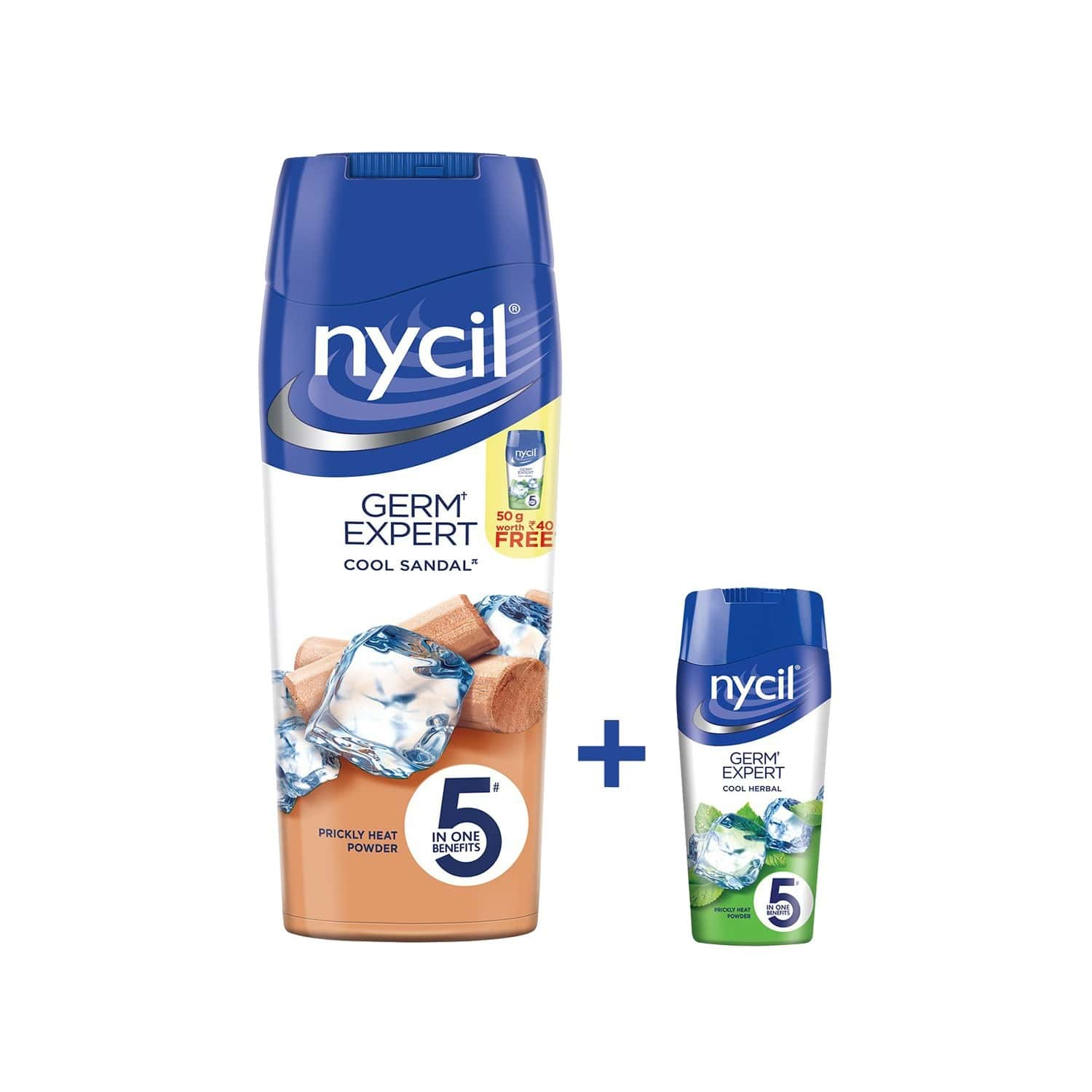 Nycil Cool Chandan Prickly Heat Powder  Bottle Of 150 G (cool Herbal 50g Free)