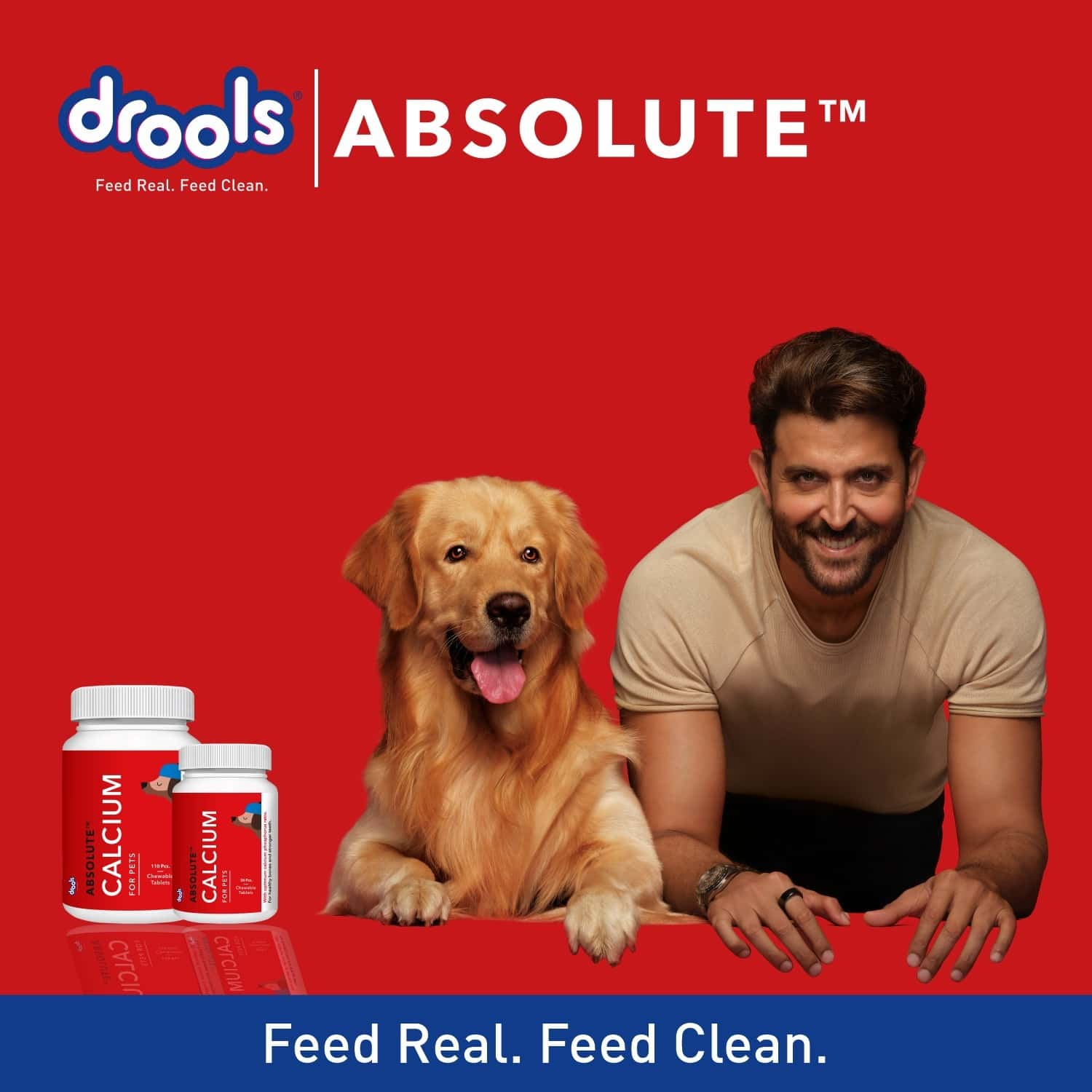 Drools Absolute Calcium Tablet - Dog Supplement 50 Pieces