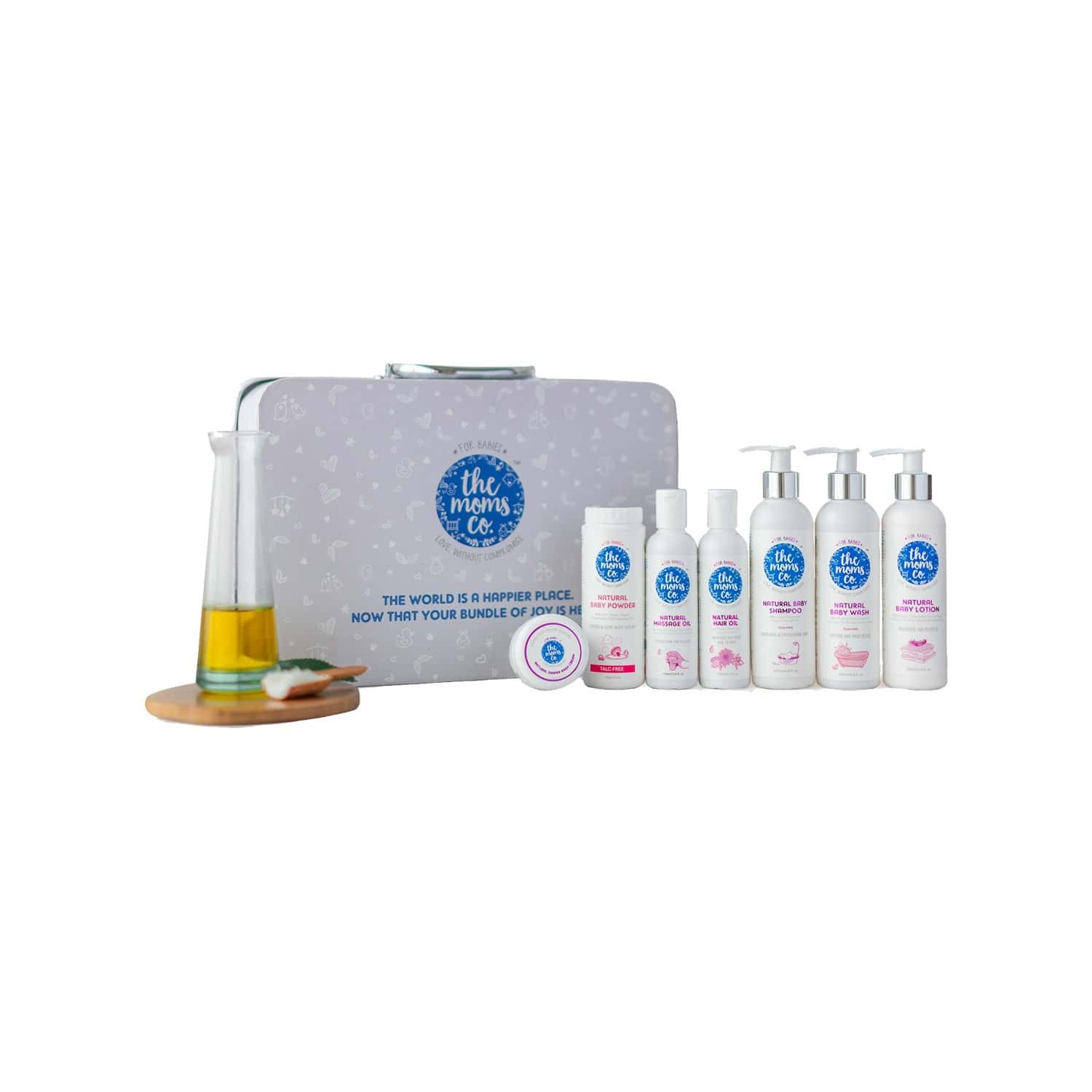 The Moms Co. Travel (shampoo/ Wash And Lotion -30 Ml Each) Baby Bath Kit Of 90 Ml