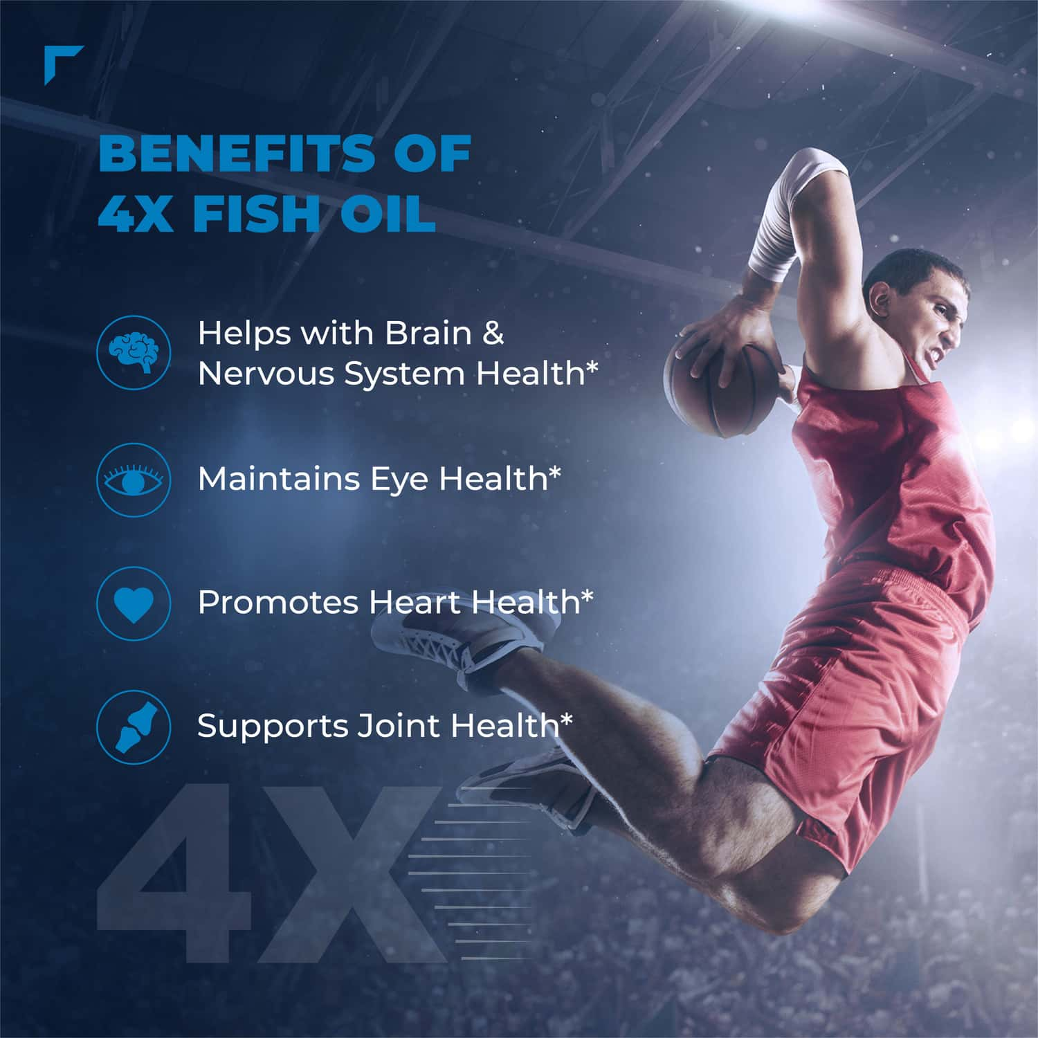 Swisse Ultiboost Odourless 4x Strength Wild Fish Oil Supplement With (1800mg) Concentrated Omega 3 For Joint Heart Brain & Eye Health - 60 Tablets