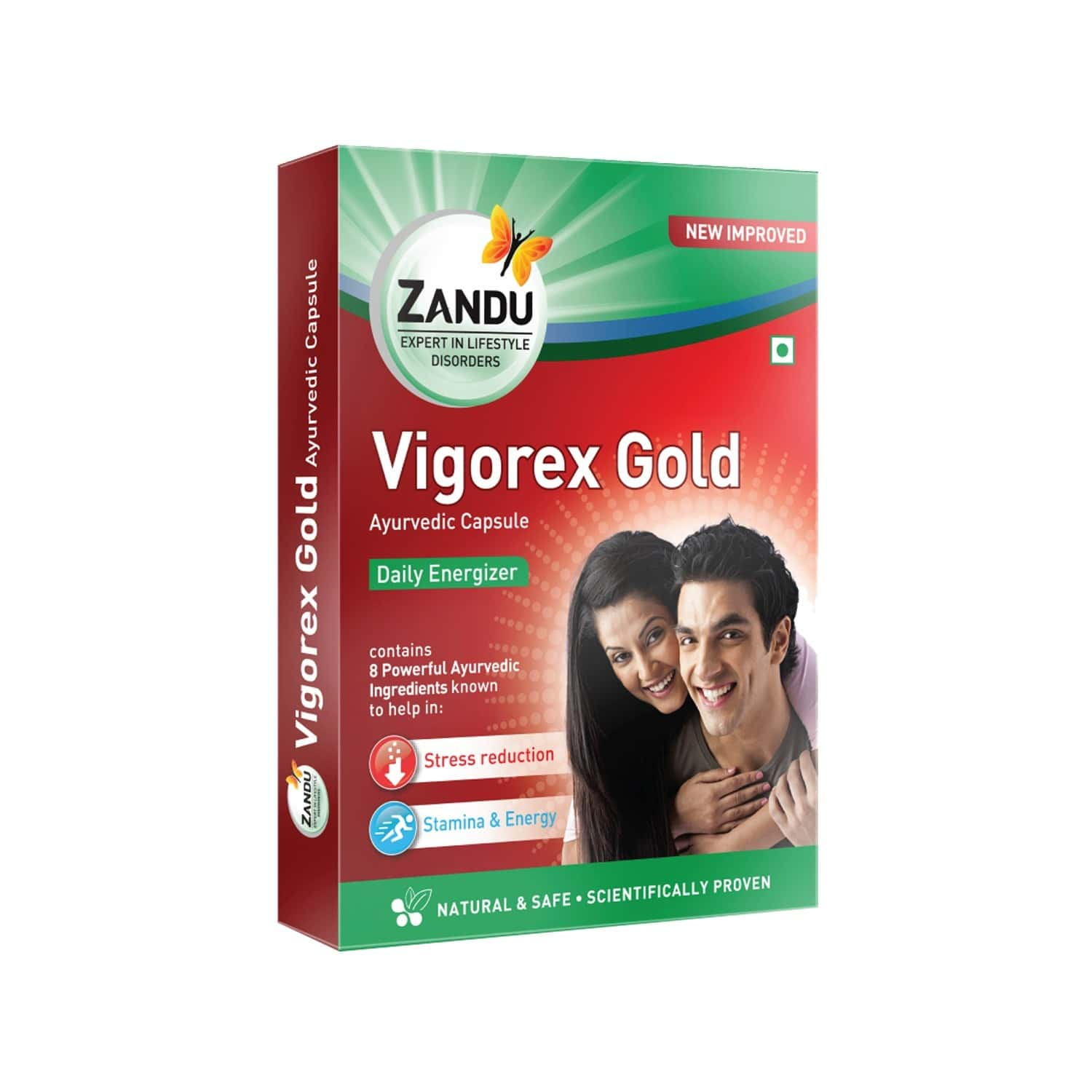 Zandu Vigorex Gold Vigor Improvement Capsules Bottle Of 20