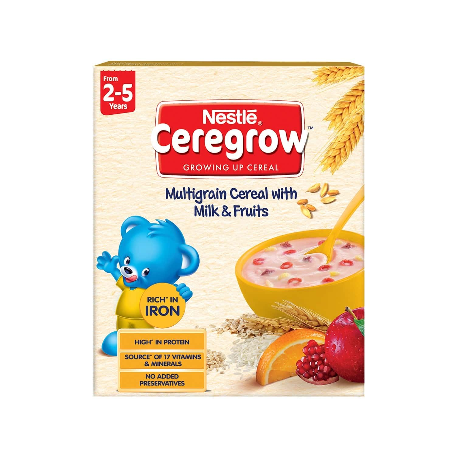 Nestle Ceregrow Multigrain Cereal Milk And Fruits Baby Food Box Of 300 G