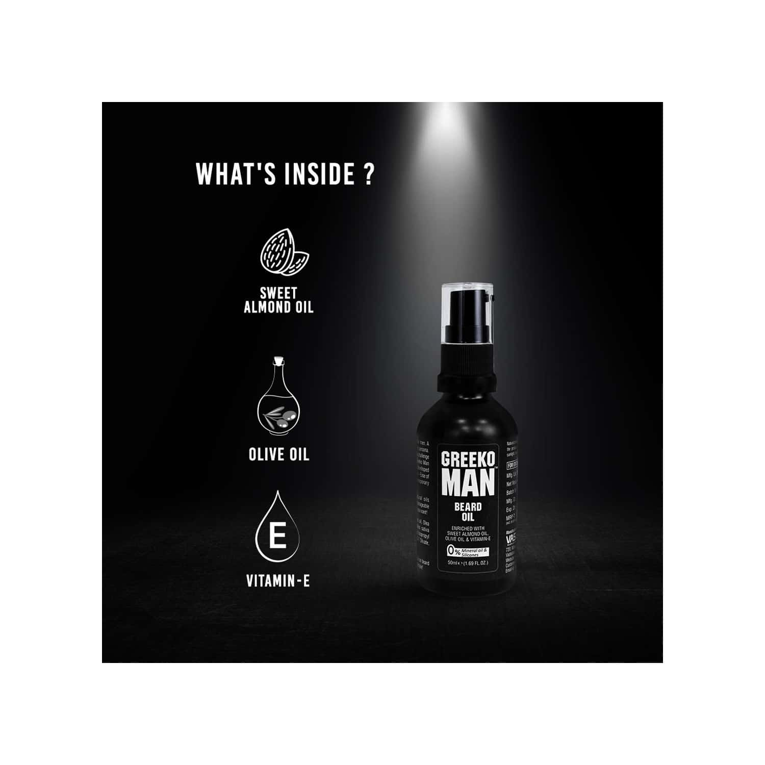 Greeko Man Beard Oil - 50 Ml