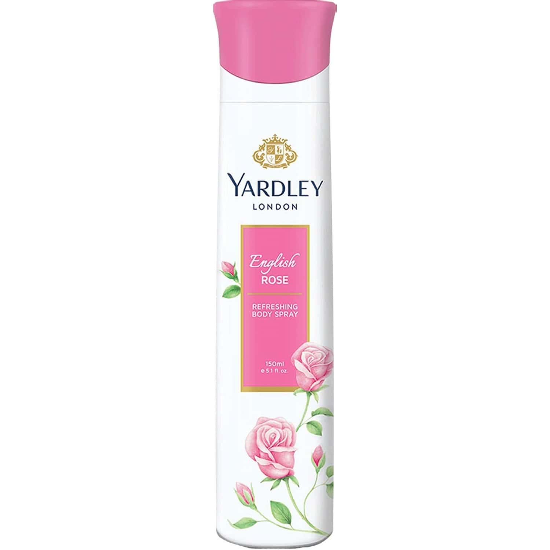 Yardley London English Rose Refreshing Deo Body Spray For Women - 150 Ml