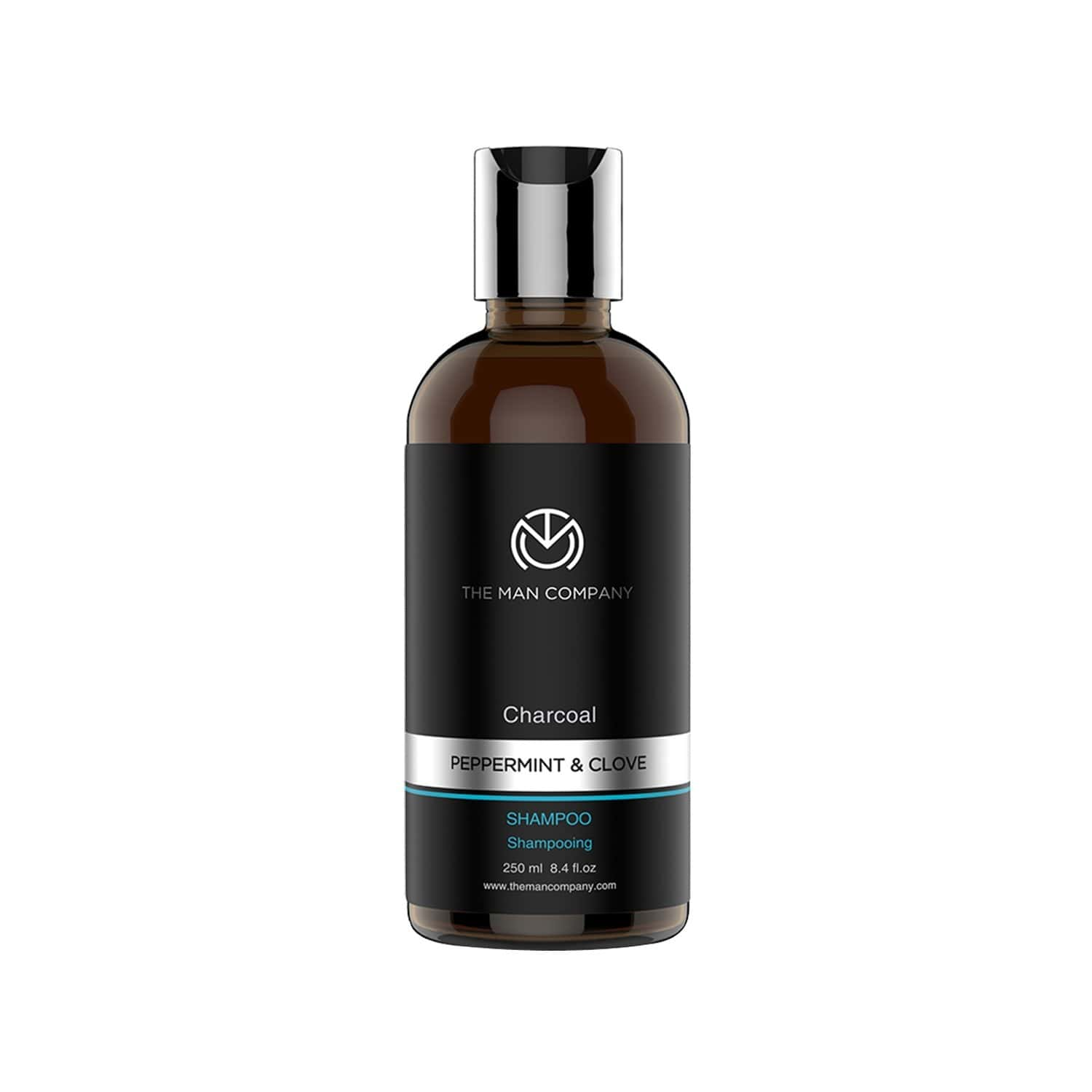 The Man Company Charcoal Shampoo For Oily Scalp To Eliminate Dandruff, Improve Hair Texture - 250 Ml