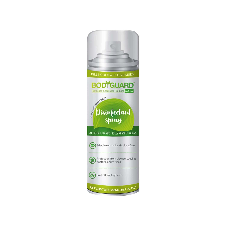Bodyguard Multipurpose Disinfectant Spray, Alcohol Based Kills 99.9% Of Germs - 300ml