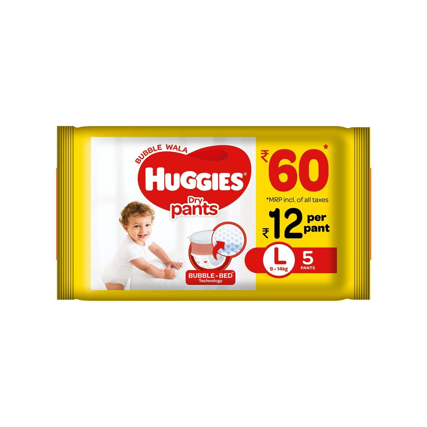 Huggies Dry Pants Diapers ( Large Size) - 5 Count