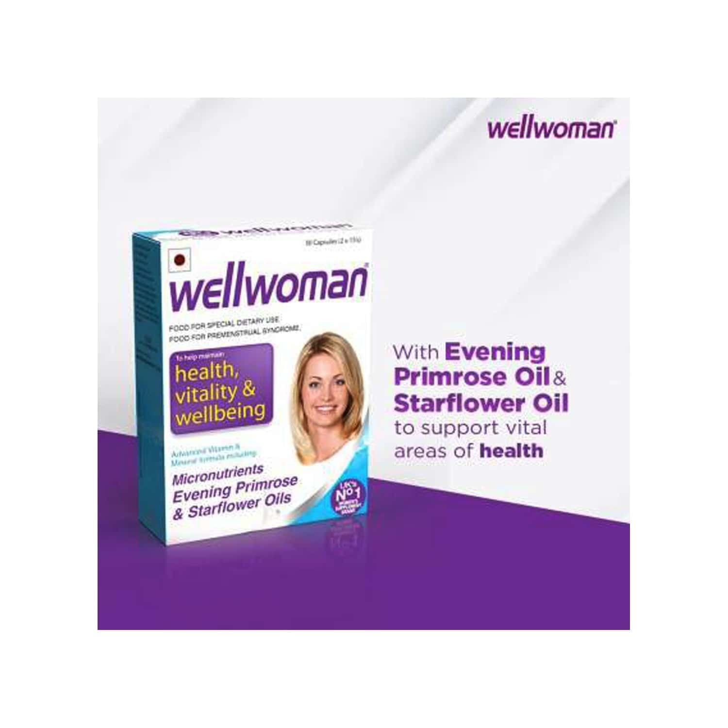 Wellwoman - Health Supplements (micronutrients, Evening Primrose Oil And Starflower Oil) With Wellman 30 Tablet Free
