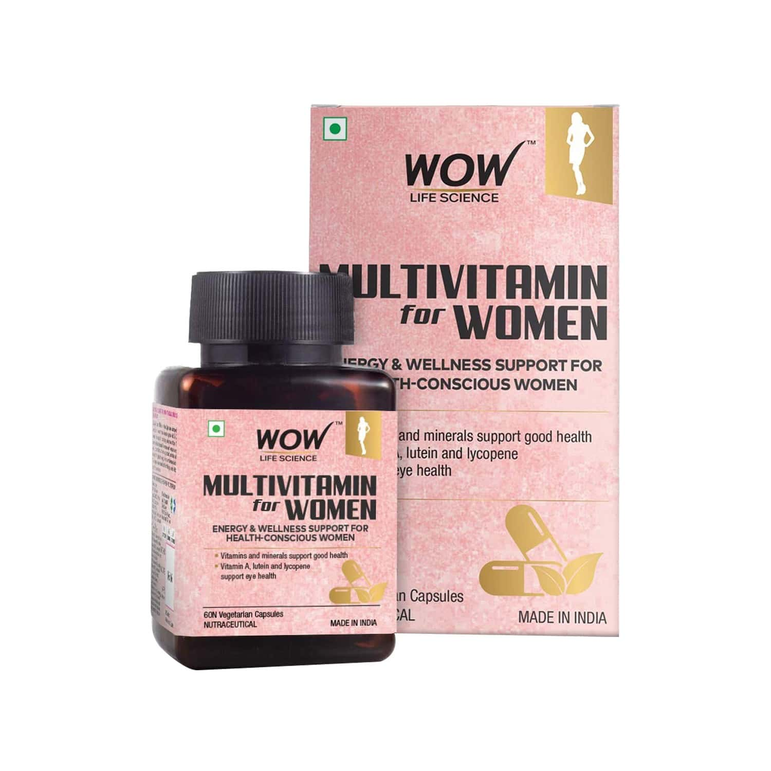 Wow Life Science Multivitamin For Women - 60 Veg Capsules