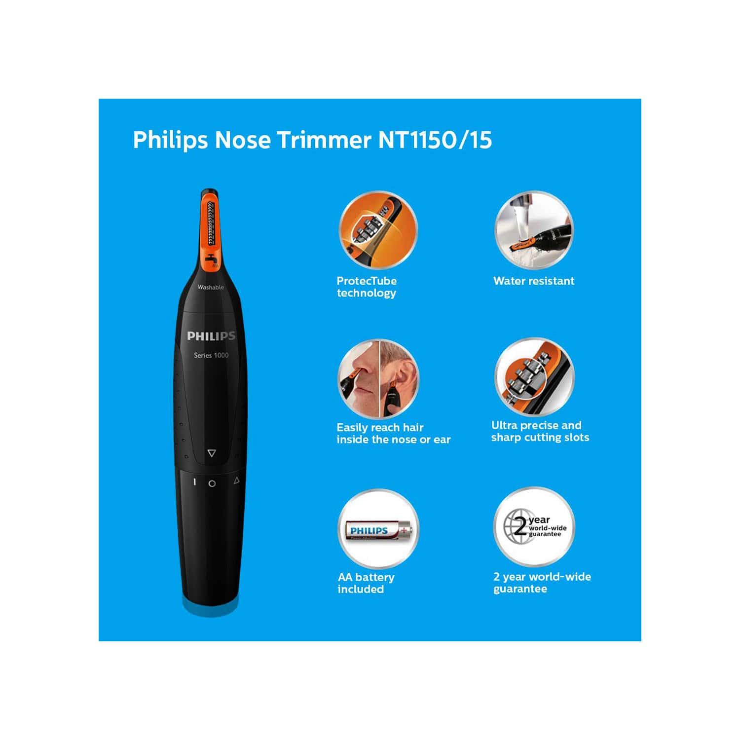 Philips Nt1150/10 Nose Trimmer (black)