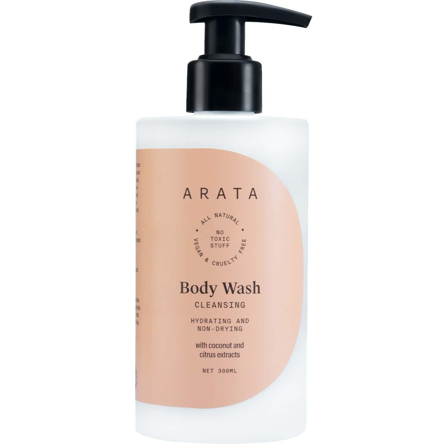Arata Natural Hydrating & Non-drying Body Wash With Coconut & Citrus Extracts || All-natural, Vegan & Cruelty-free || Gentle Daily Cleansing For Women & Men - (300 Ml)