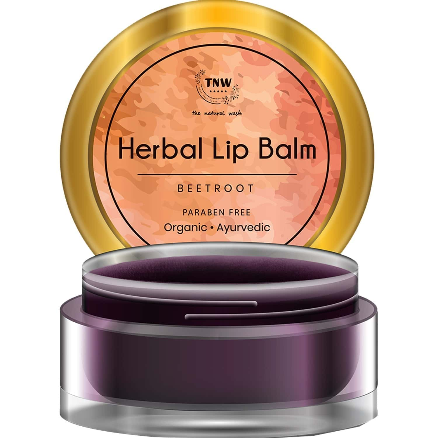 Tnw -the Natural Wash Herbal Beetroot Lip Balm An Ayurvedic Balm For Soft And Supple Lips - 5 Gm