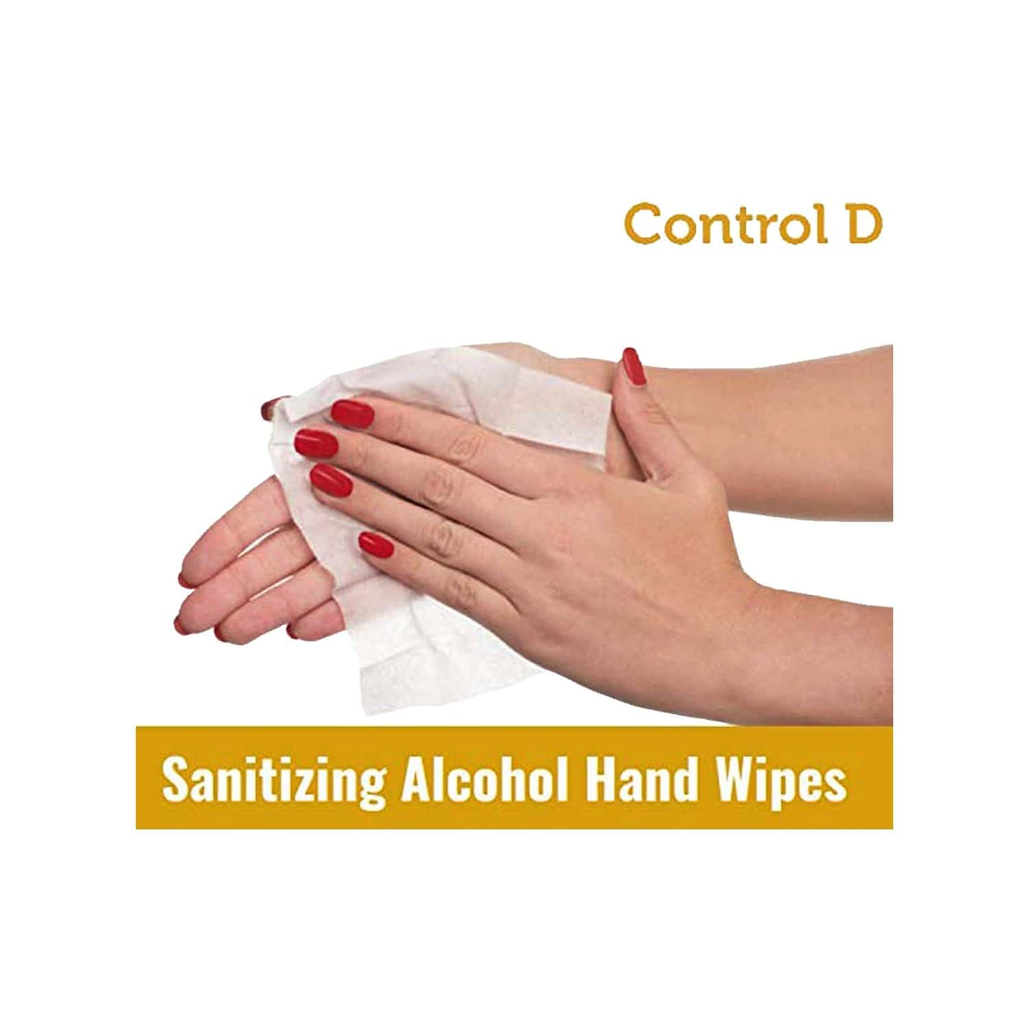 Control D Alcohol Hand Wipes - 50 Wipes