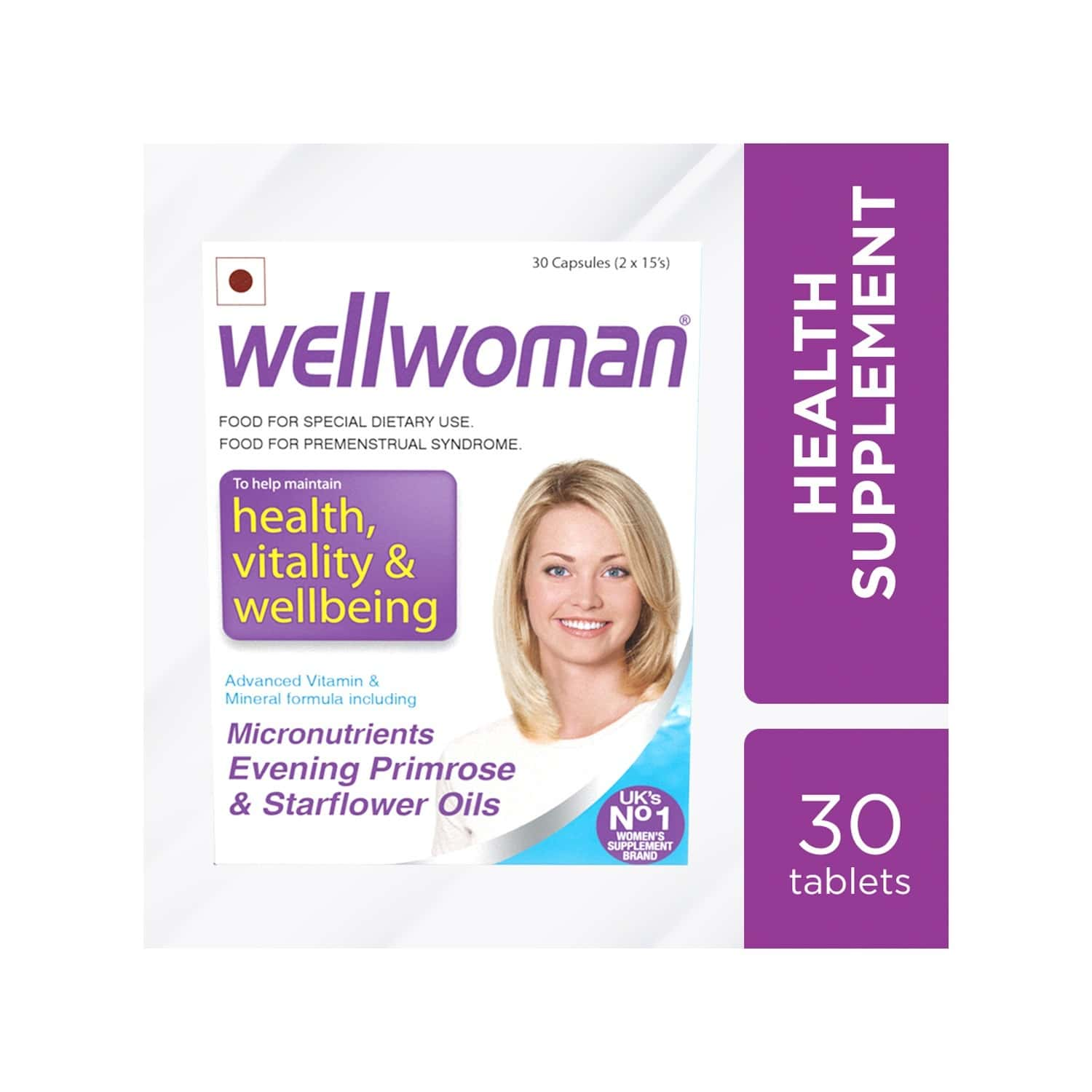 Wellwoman - Health Supplements - Micronutrients, Evening Primrose Oil And Starflower Oil - 30 Capsules
