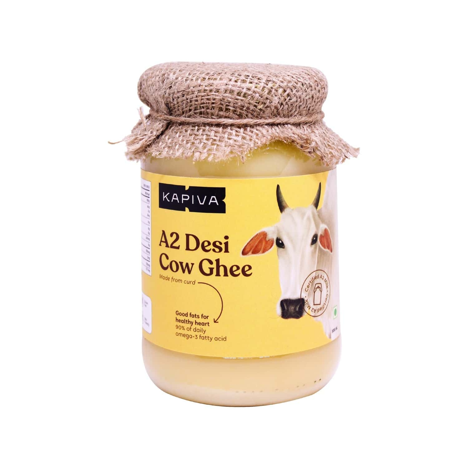 Kapiva A2 Shudh Desi Ghee Helps Reduces Joint Pain And Improves Heart Functioning - 500ml