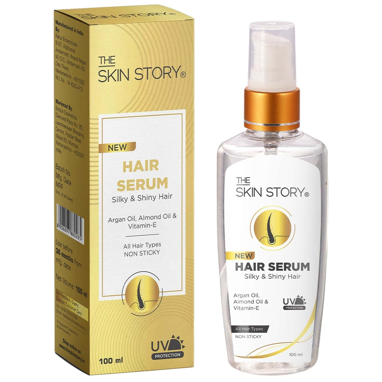 The Skin Story Hair Serum , Non Sticky , Uv Protection - 100 Ml