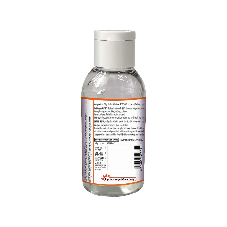 Dr. Morepen Protect Max Hand Sanitizer Gel With Orange Fragrance - 50ml