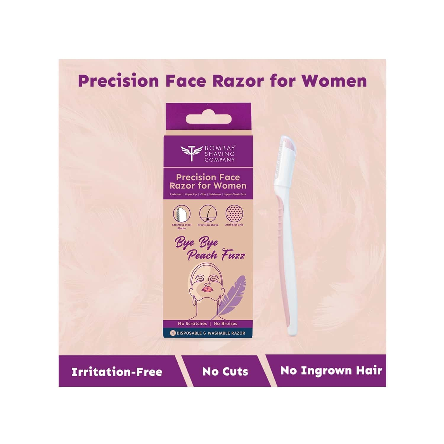 Bombay Shaving Company Dfh Precision Face Razor (pack Of 1) | Face Razor For Women For Easy Facial Hair Removal At Home