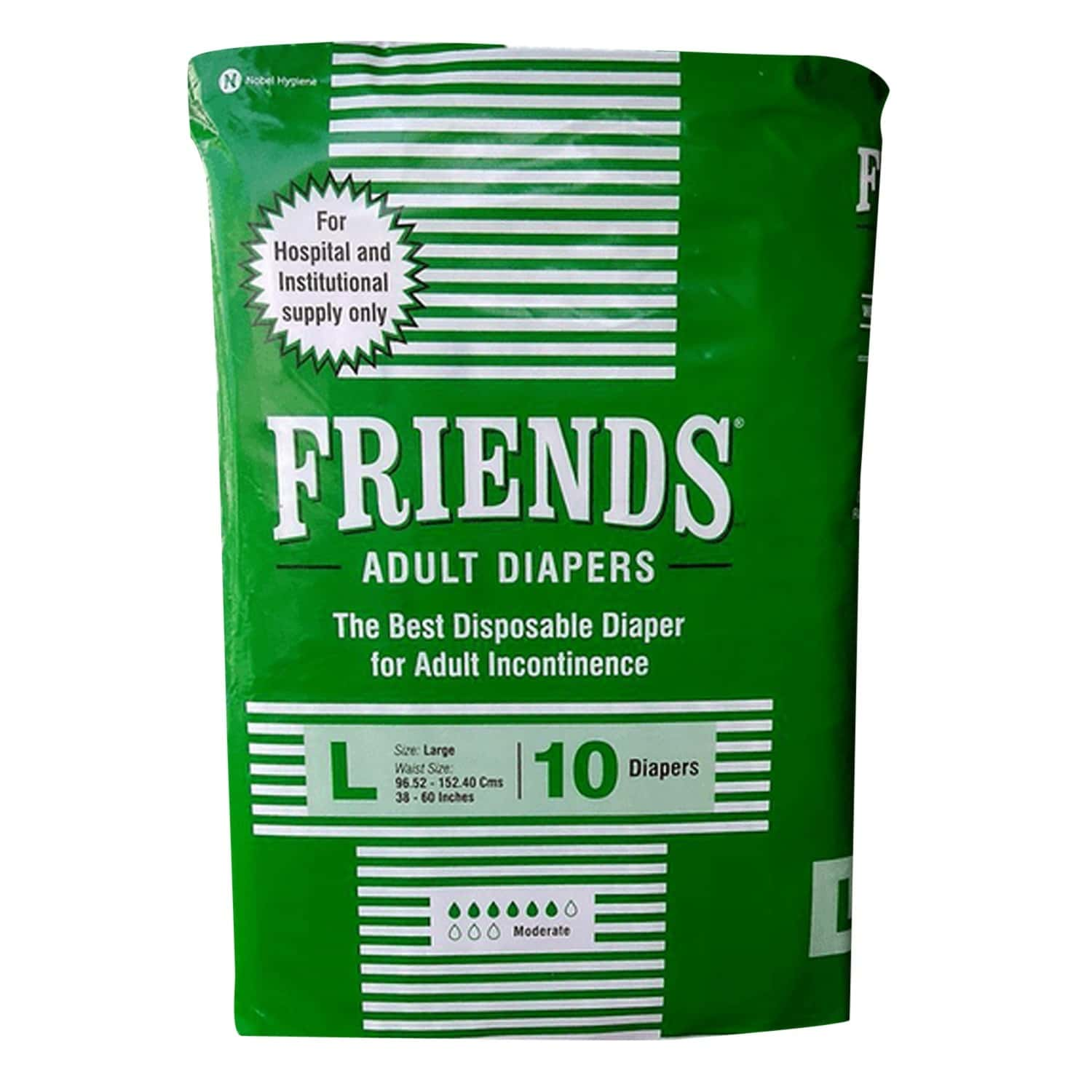 Friends Hospital Adult Large Diapers 10