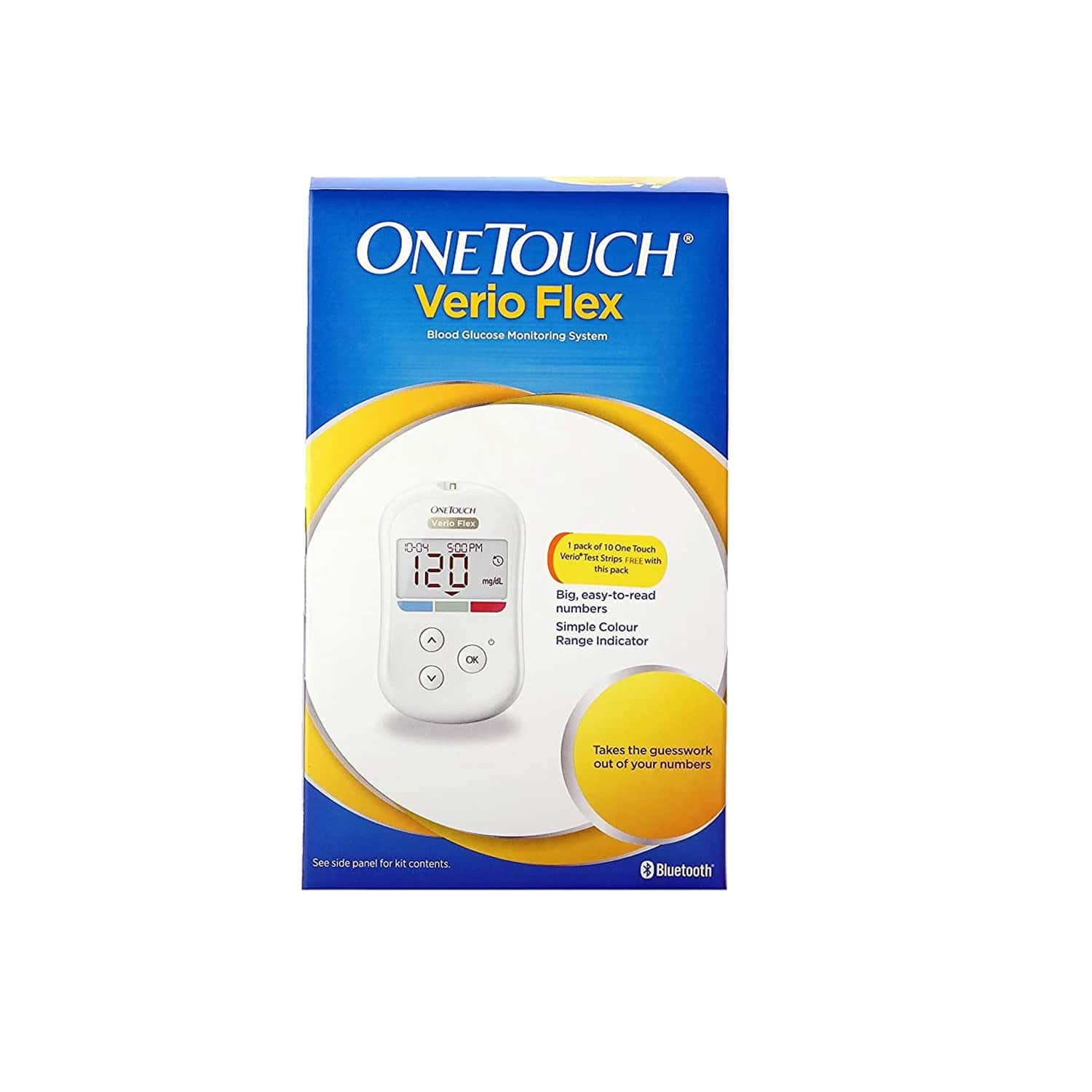 Onetouch Verio Flex Glucometer 1's -(10 Test Strips Free)