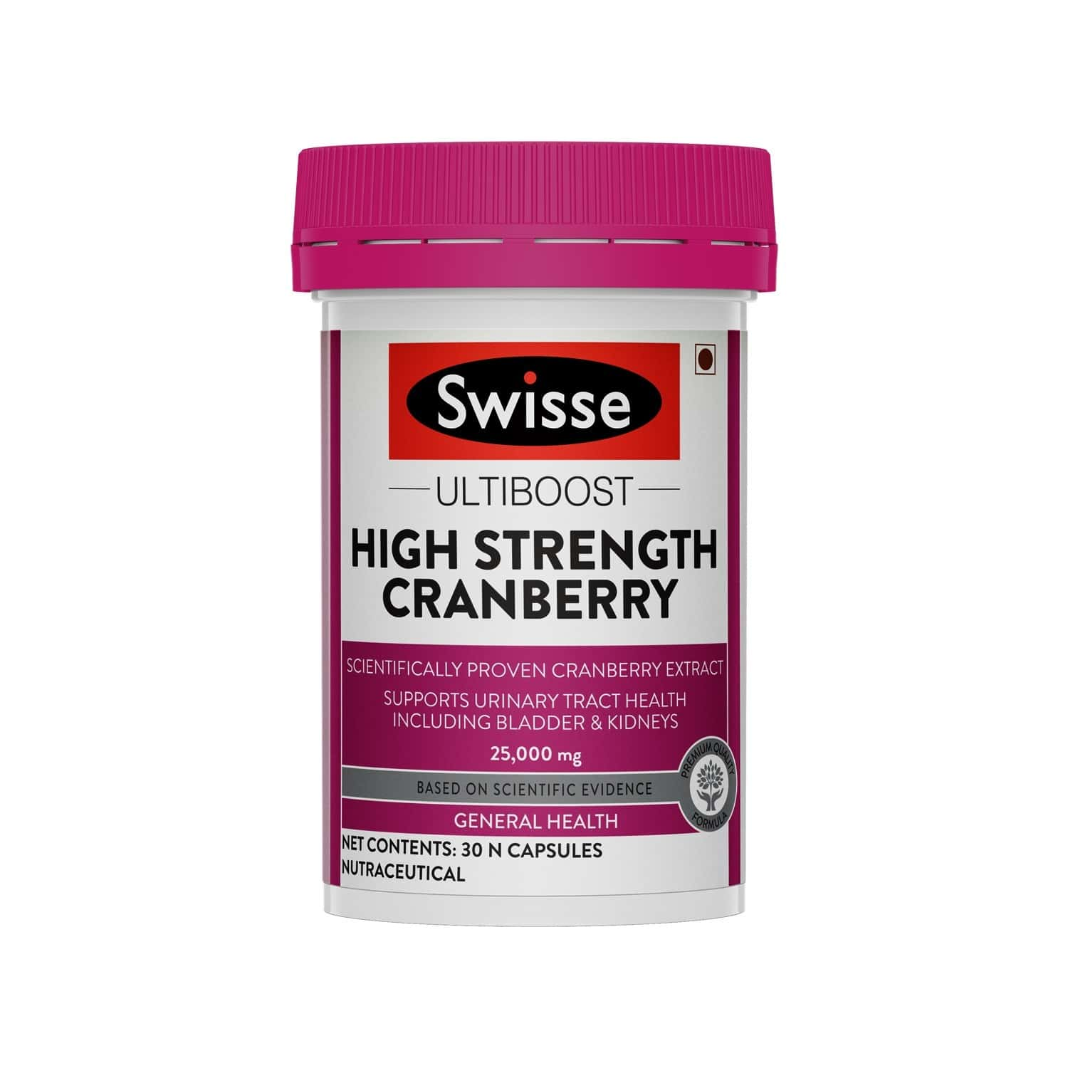 Swisse Ultiboost High Strength Cranberry Antioxidant Rich Supplements For Bladder & Kidney Health - 30 Capsules