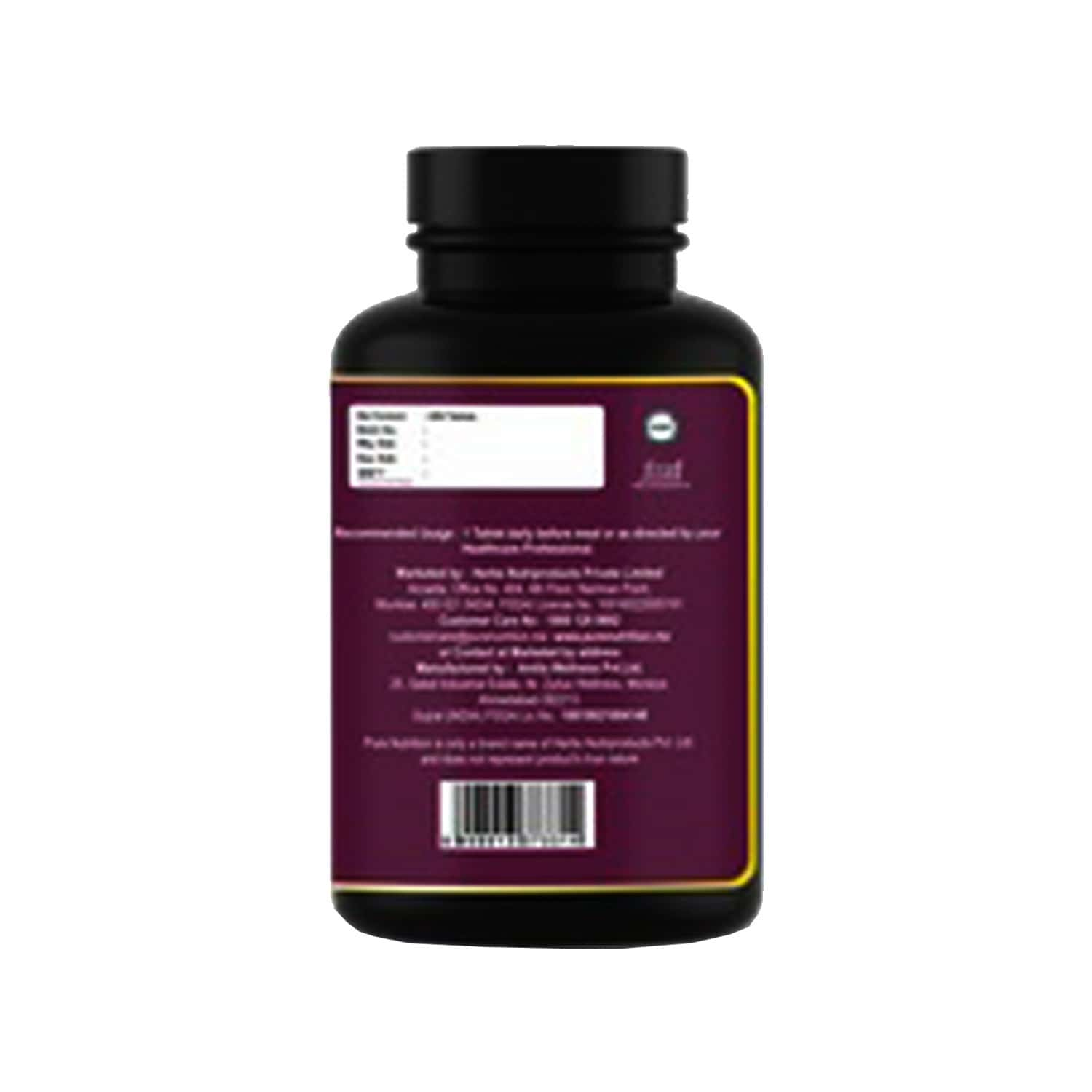 Pure Nutrition Biotin With Amla & Bamboo Extracts - Hair - Skin & Nail Support - Helps Support Energy Metabolism - 60 Tablets