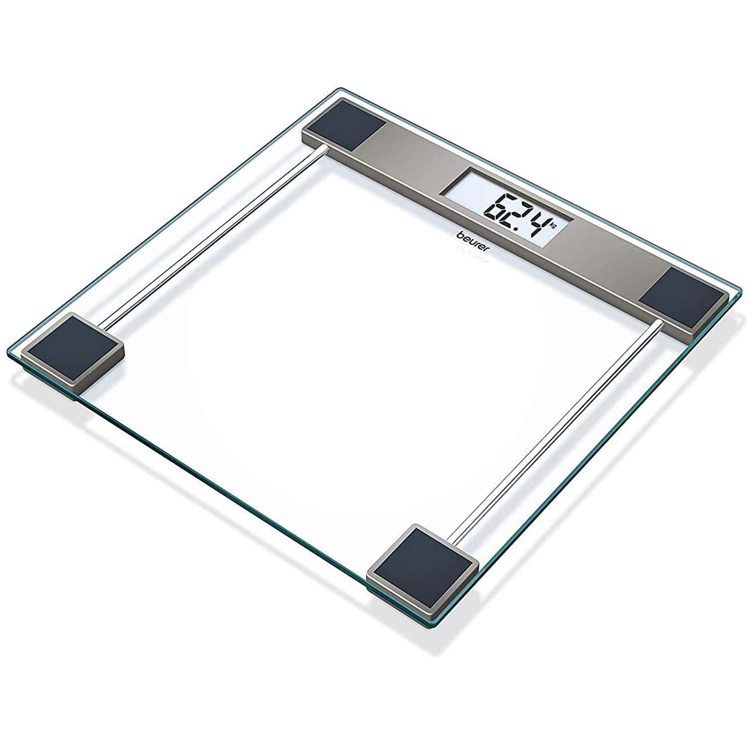 Beurer Gs11 Digital Weighing Glass Scale With Lcd Digital Display