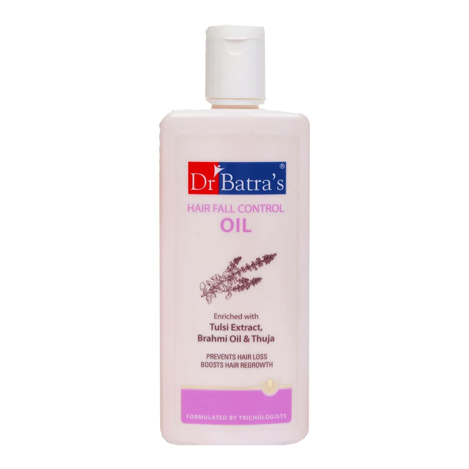Dr Batra's Hair Fall Control Oil Enriched With Tulsi Extract, Brahmi Oil & Thuja - 200 Ml