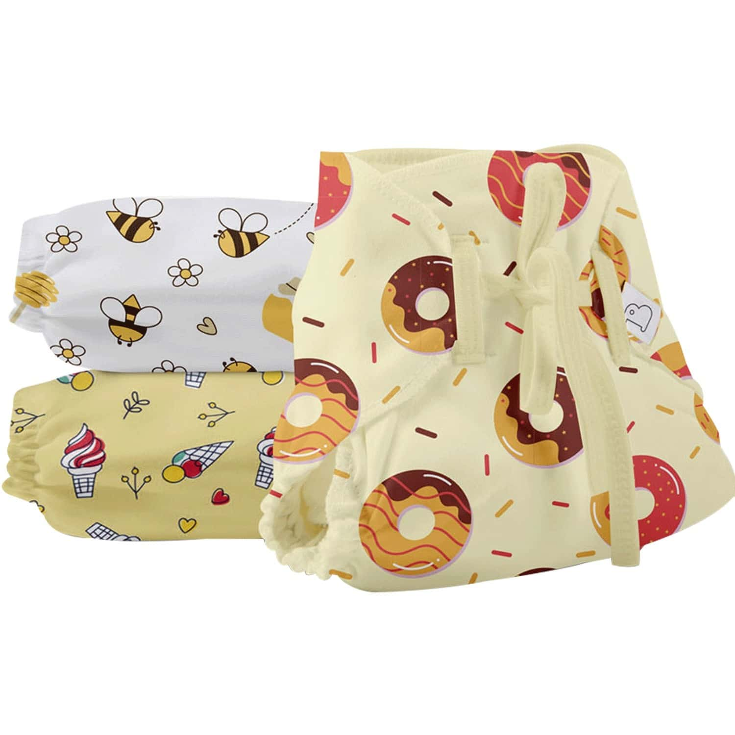 Superbottoms Dry Feel Langot - Pack Of 6 - Organic Cotton Baby Langot/nappy Sweet Tooth, Size 2