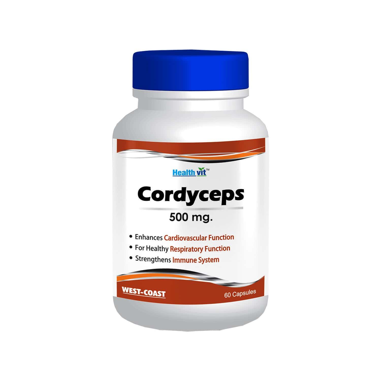 Healthvit Cordyceps 500mg -60 Capsules