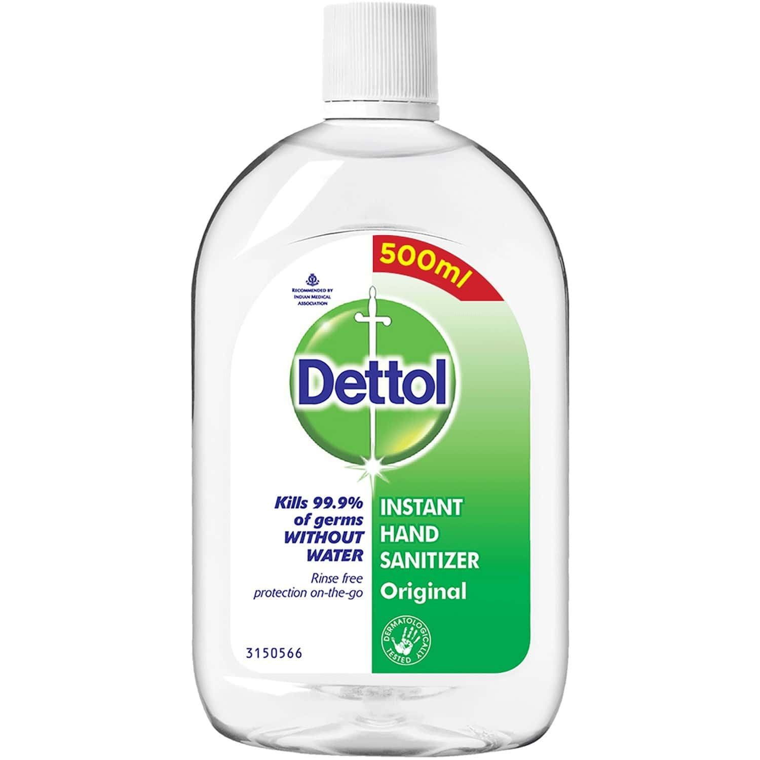 Dettol Clinical Strength Antiseptic Hand Sanitizer - 500ml