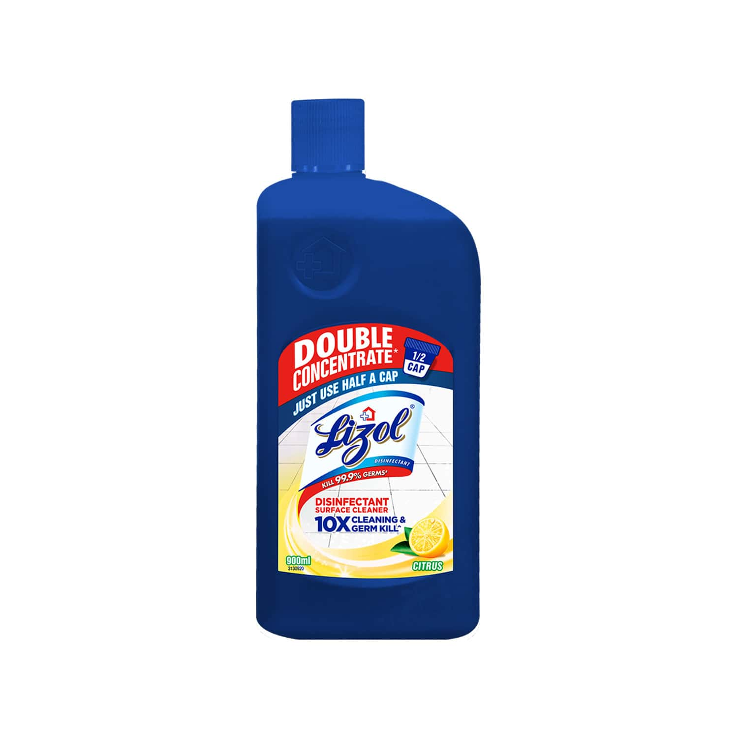 Lizol Double Concentrate Disinfectant Surface Cleaner ( Citrus ) - 900ml