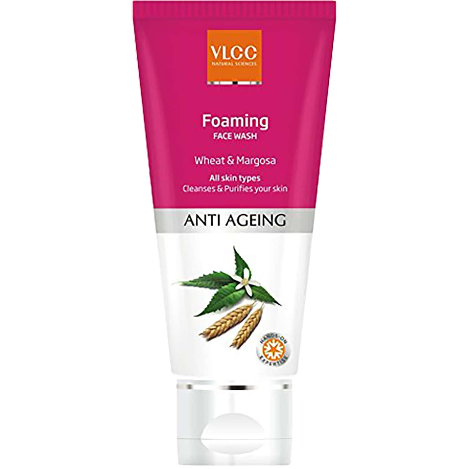 Vlcc Anti Ageing Foaming Wheat And Margosa Face Wash - 100 Ml