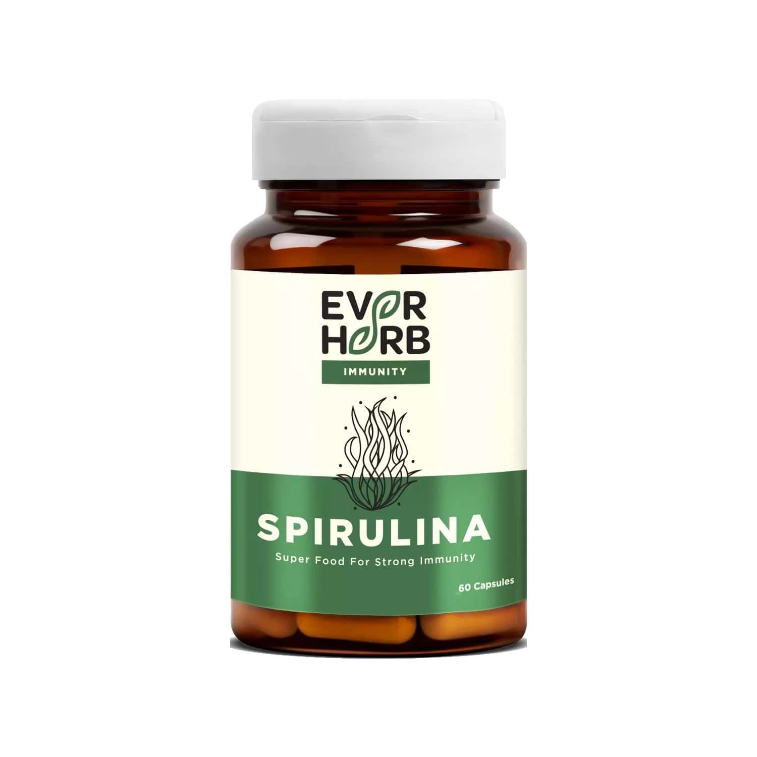 Everherb Spirulina - High Energy Super Food - Rich In Natural Protein - Bottle Of 60