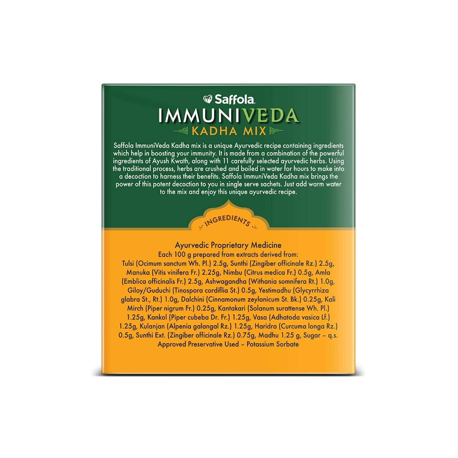 Saffola Immuniveda Kadha Mix Ayurvedic Immunity Booster Herbal Tea- 80g
