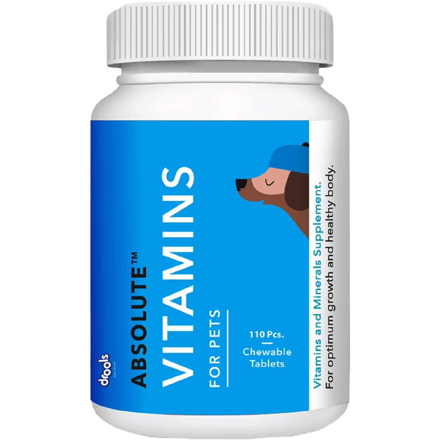 Drools Absolute Vitamin Tablet - Dog Supplement 110 Pieces