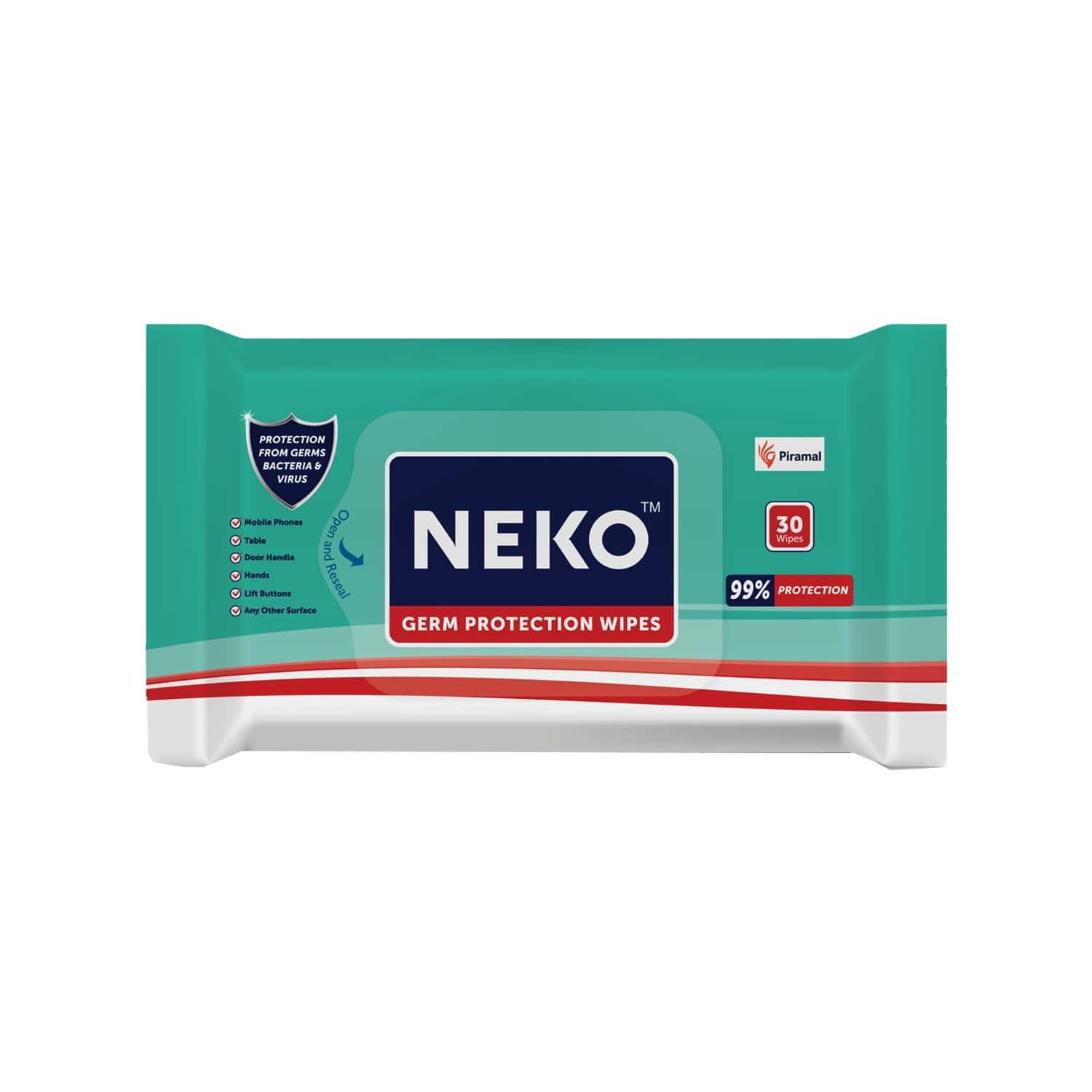 Neko Germ Protection Wipes - Travel Pack - 30 Wipes