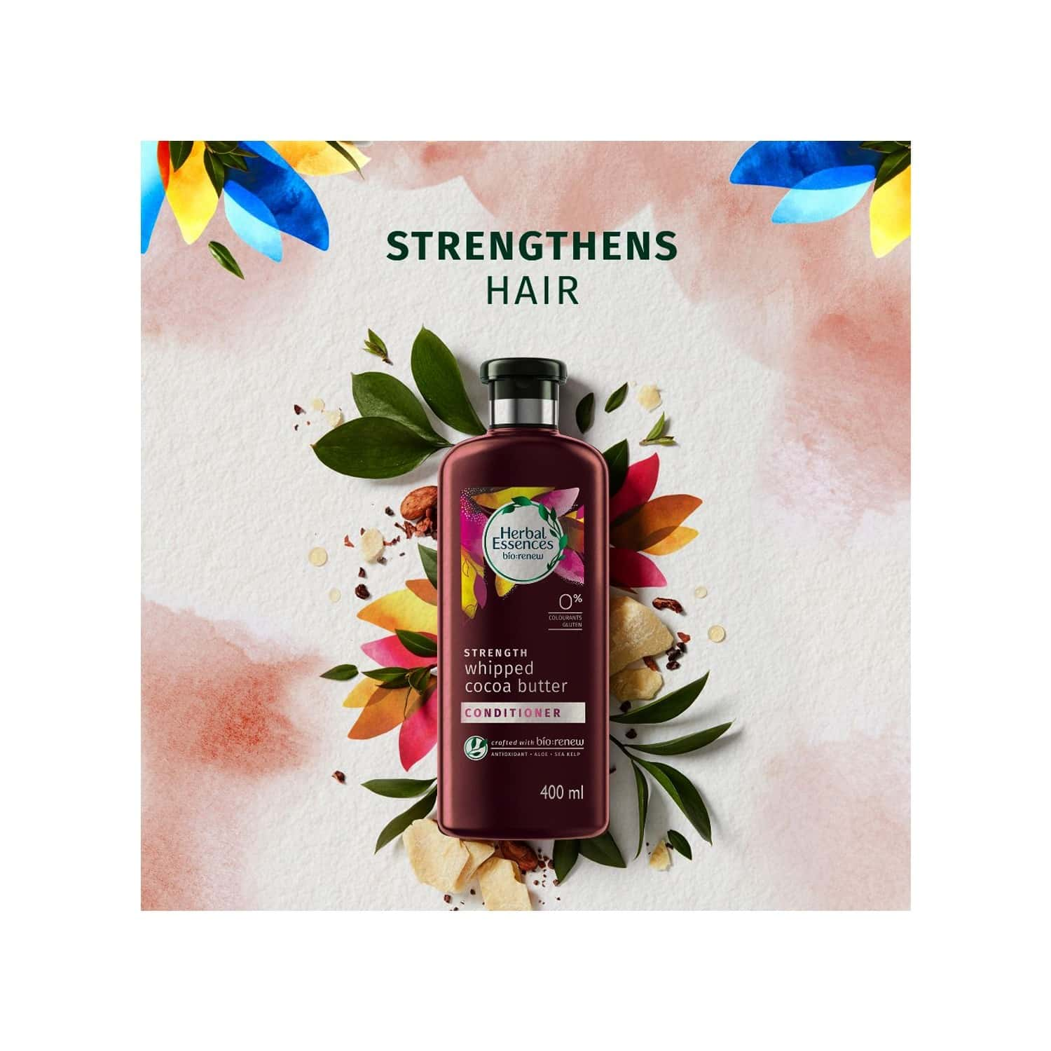 Herbal Essences Bio Renew Strength Whipped Cocoa Butter Conditioner - 400ml