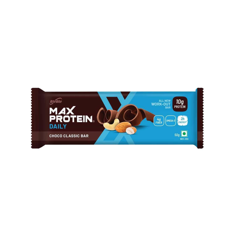 Ritebite Max Protein Daily Choco Classic Protein Bar 50g - Pack Of 1