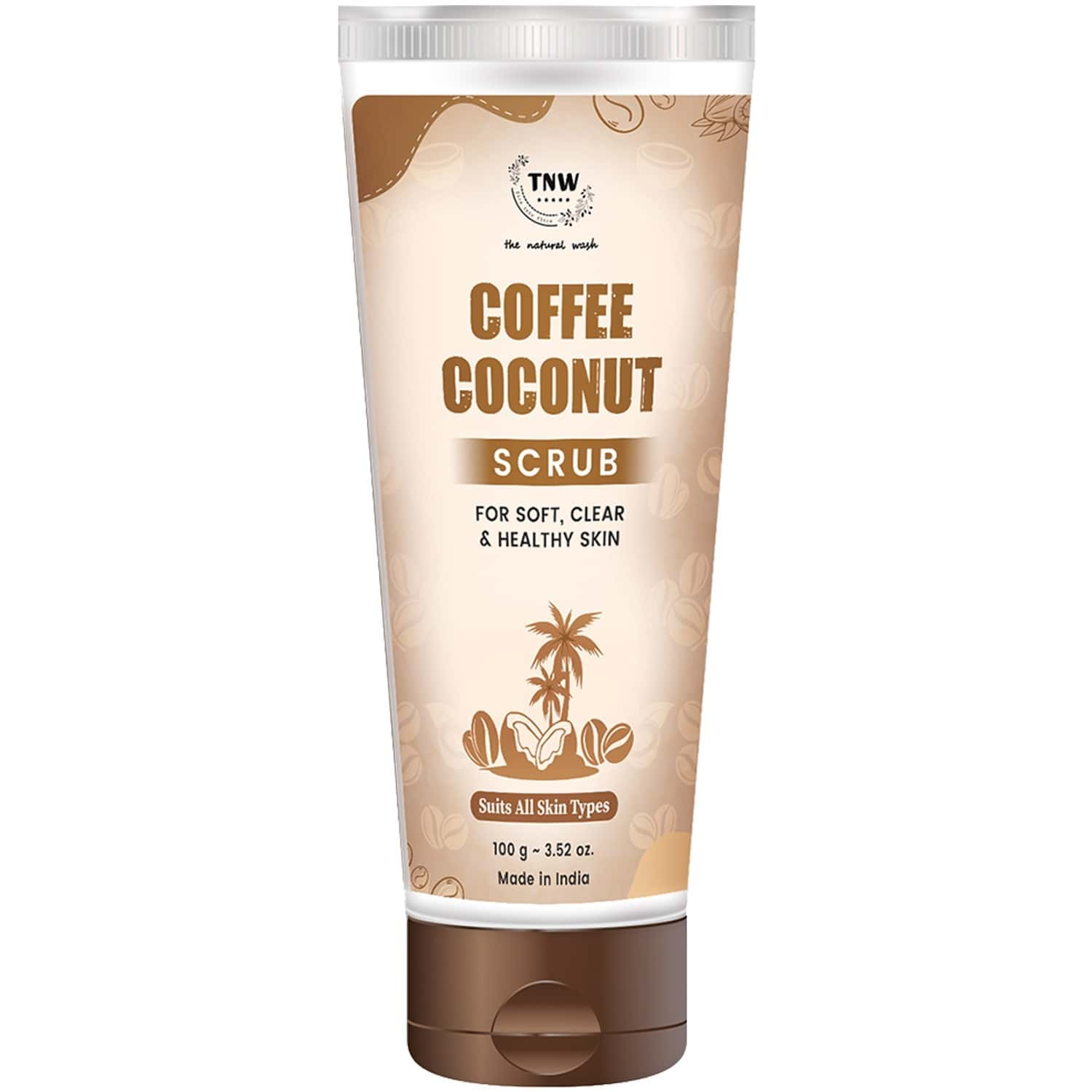 Tnw- The Natural Wash Coffee Coconut Scrub For Soft Clear And Healthy Skin - 100 Gm