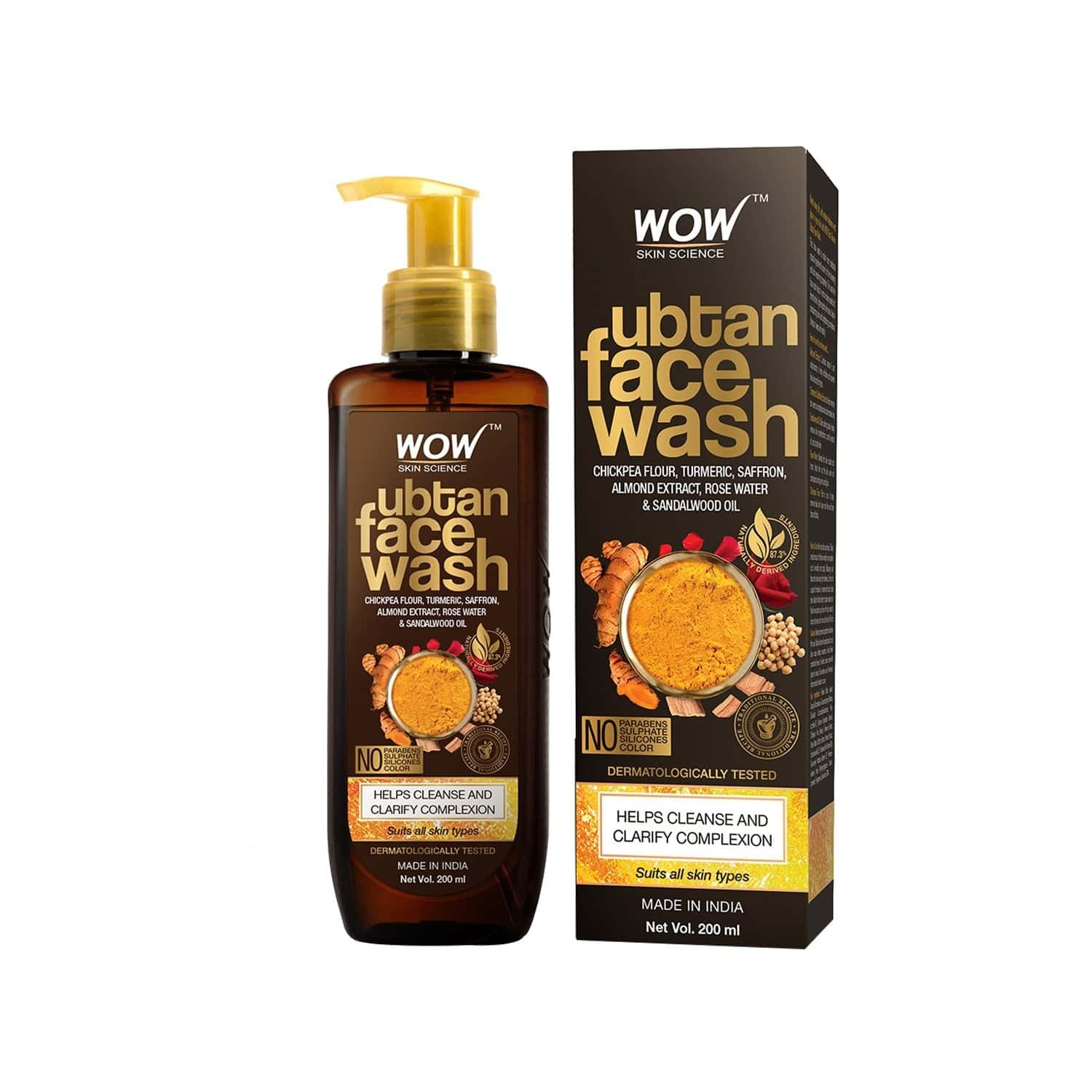 Wow Skin Science Ubtan Face Wash - 200ml