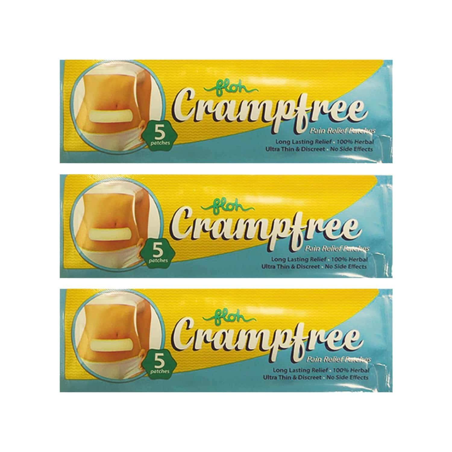 Floh Crampfree Pain Relief Patch, Pack Of 3