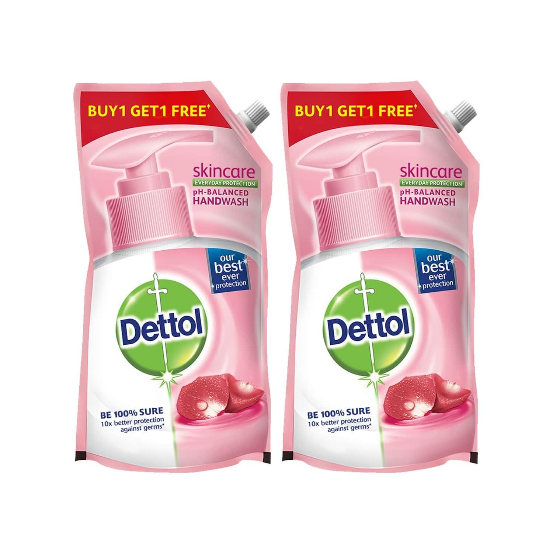 Dettol Skincare Handwash Liquid Soap Refill, 750 Ml, Buy 1 Get 1 Free