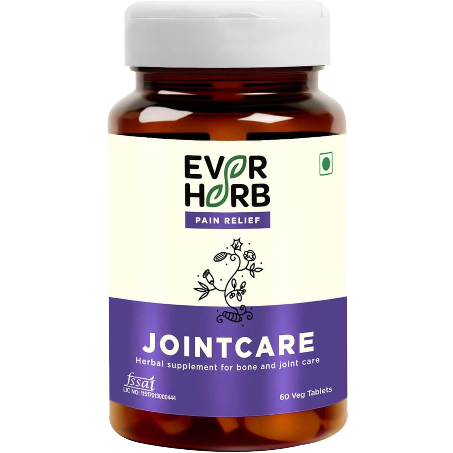 Everherb Jointcare - Blend Of 9 Powerful Herbs - Joint & Bone Health - Bottle Of 60 Tablets