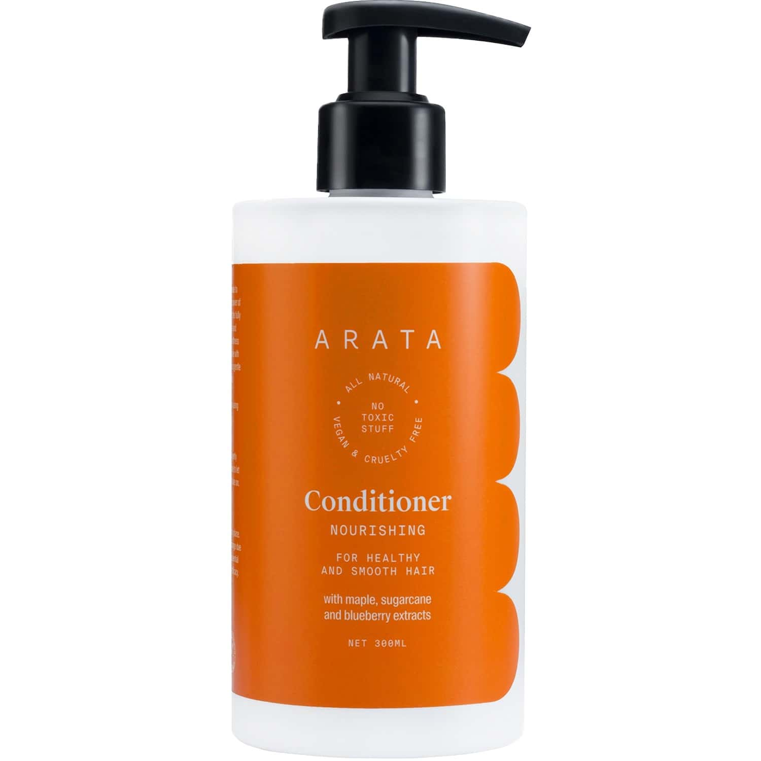 Arata Natural Nourishing Hair Conditioner With Maple, Sugarcane & Blueberry Extracts For Women & Men   All-natural, Vegan & Cruelty-free   For Healthy & Smooth Hair - 300 Ml