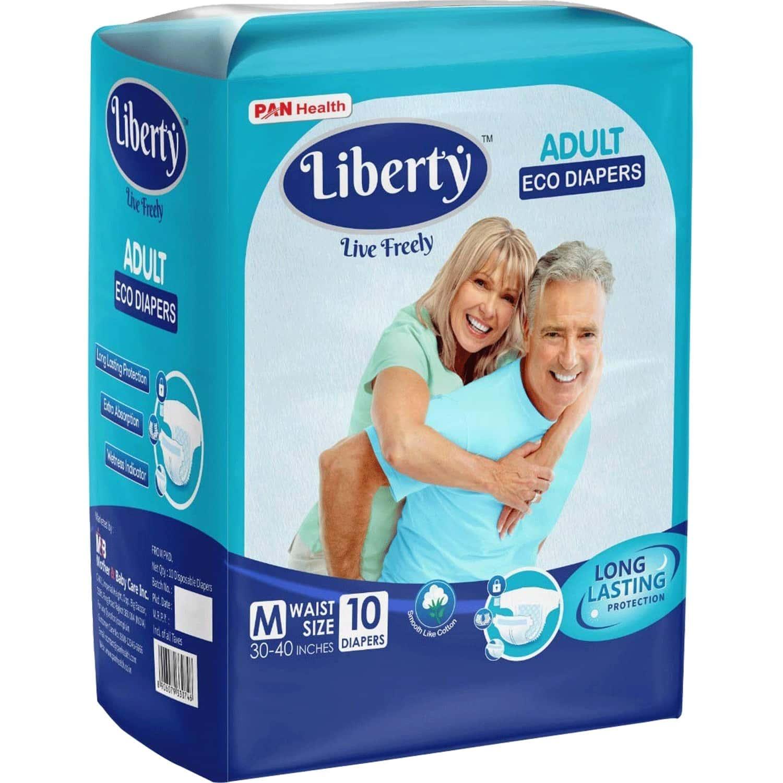 Liberty Eco Adult Diapers Medium - 10 Units