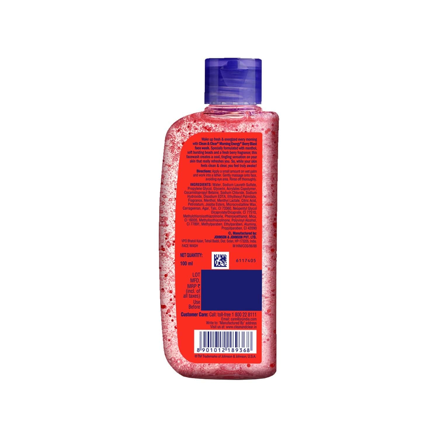 Clean & Clear Morning Energy Berry Blast Face Wash Bottle Of 100 Ml
